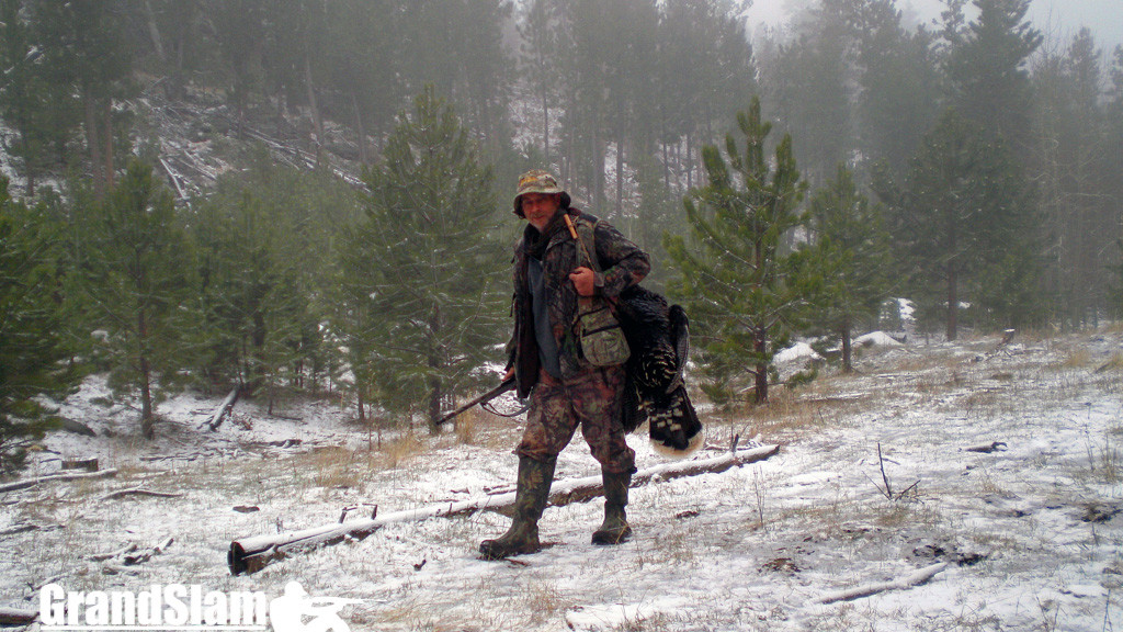 Turkey hunting in the snow
